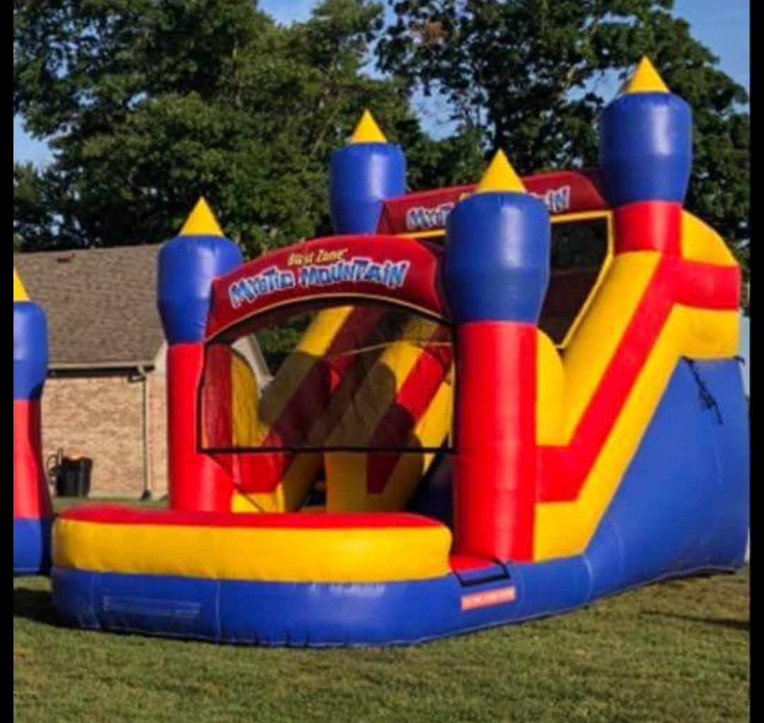 mystic mountain slide bounce house columbus indiana