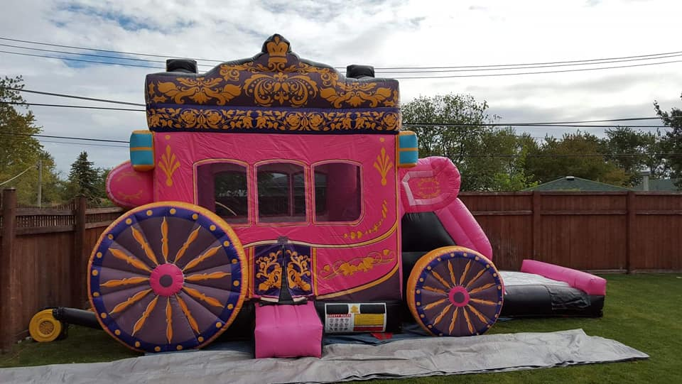 Princcess Carriage bounce house combo
